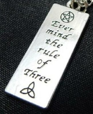 Ever Mind The Rule of Three Charm Necklace