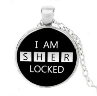 I Am Sherlocked Cabochon Necklace - Silver