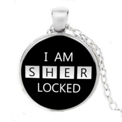 I Am Sherlocked Cabochon Necklace - Silver