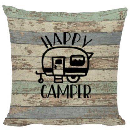 Barn Board Happy Camper Pillow Cover