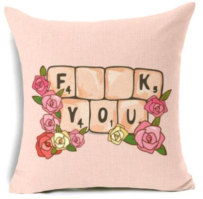F**k You Scrabble Pillow Cover