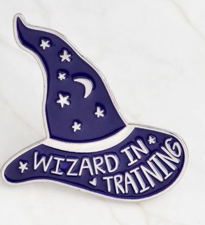 Wizard in Training Enamel Pin - Silver