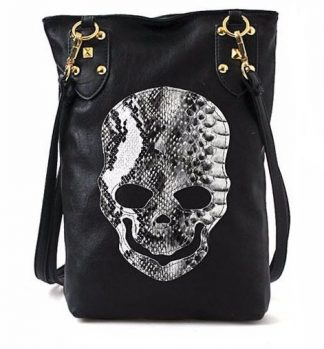 Snakeskin Skull Crossbody Purse