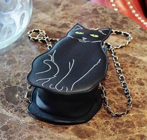 Black Cat Crossbody Purse