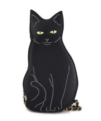 Black Cat Crossbody Purse