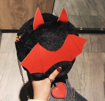 A Little Batty Plush Crossbody Purse