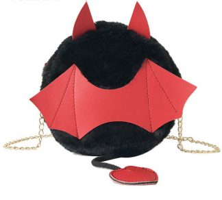 A Little Batty Plush Crossbody Purse