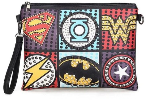 Marvel Superheroes Shoulder/Clutch Purse
