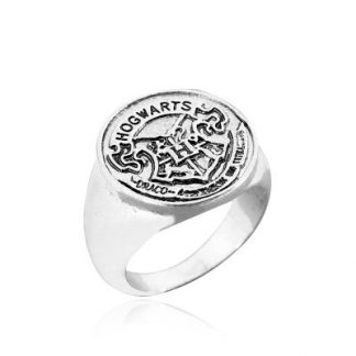 Harry Potter Hogwarts Academy School Crest Ring