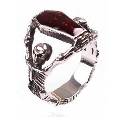 Skeletons and Coffin Vintage Style Ring