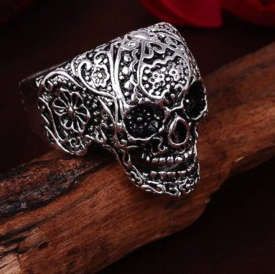 Vintage Style Skull Ring #1