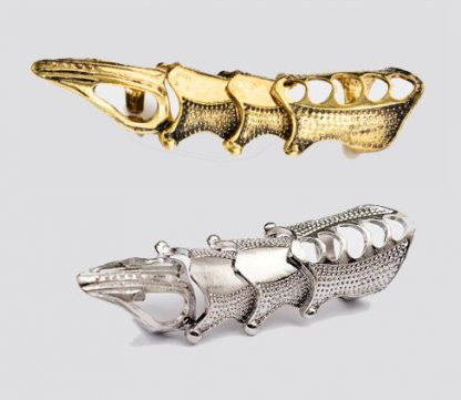 Finger Armor Ring - Antique Gold or Antique Silver