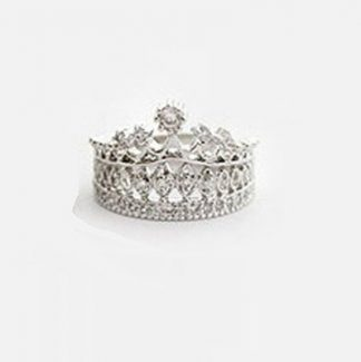 Princess Style Vintage Rhinestone Crown Ring #1