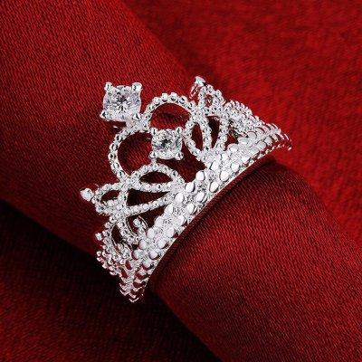 Princess Style Vintage Rhinestone Crown Ring #2