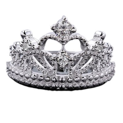 Princess Style Vintage Rhinestone Crown Ring #2