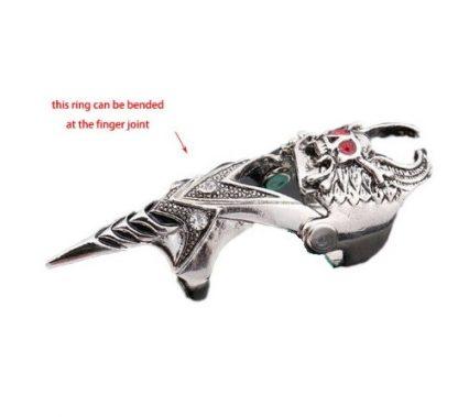 Finger Armor Winged Skull Ring