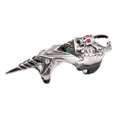 Finger Armor Winged Skull Ring