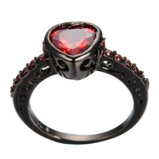 Black Hearted Ring