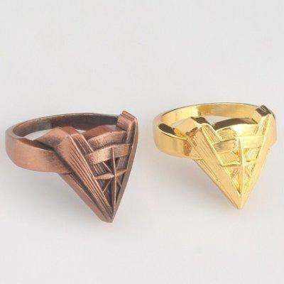 Wonder Woman Chevron Ring -Bronze or Gold