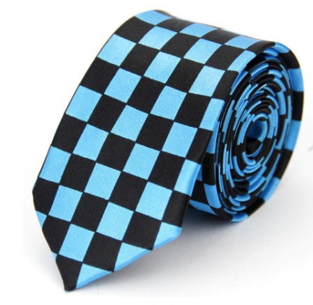 Checkered Turquoise Tie