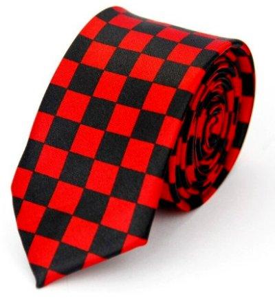 Checkered Black & Red Tie