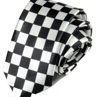 Checkered Black & White Tie