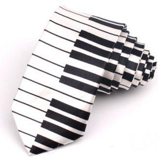 Zebra Print Black & White Tie