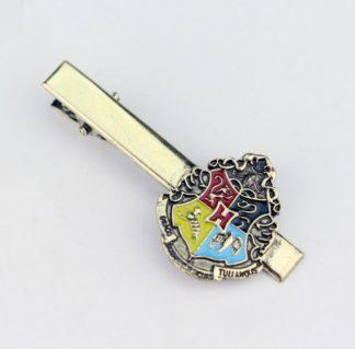 Harry Potter Hogwarts Crest Tie Clip - Gold