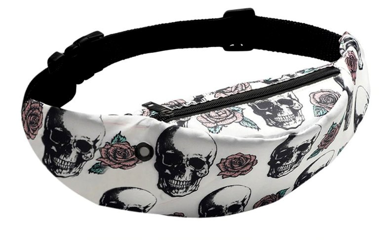 Skulls & Roses Waist Bag / Fanny Pack