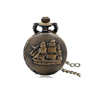 Three Masted Ship Mini Pocket Watch