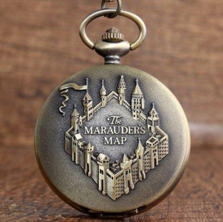 Harry Potter Marauder's Map Pocket Watch