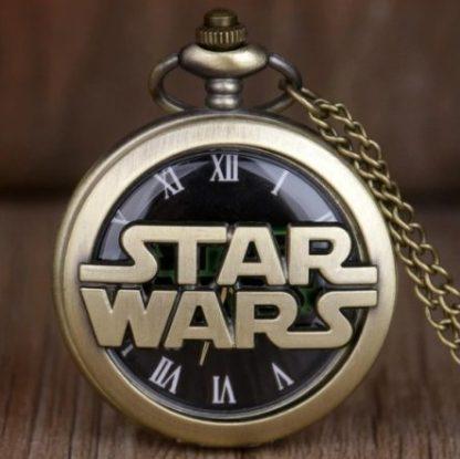 Star Wars Logo Pocket Watch Antique Brass