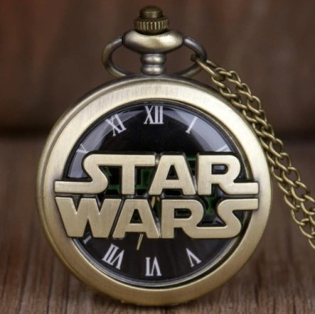 Star Wars Logo Pocket Watch Antique Brass