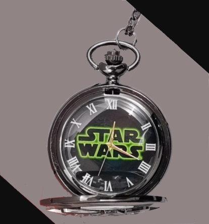 Star Wars Logo Pocket Watch Black
