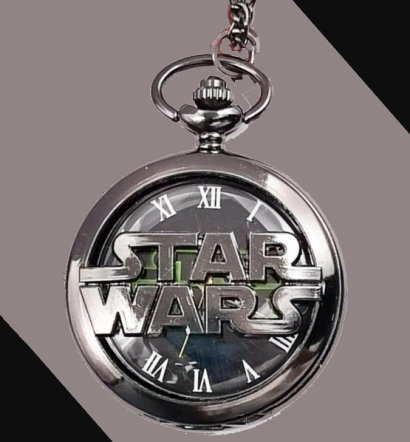 Star Wars Logo Pocket Watch Black