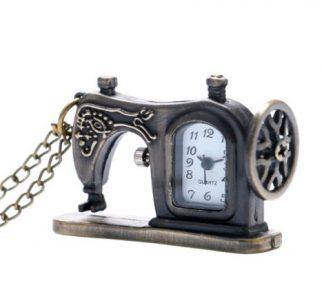 Steampunk Sewing Machine Pendant Watch