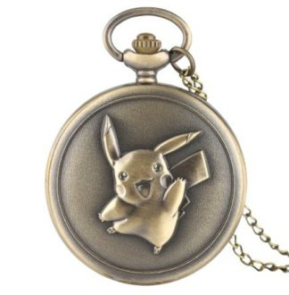 Anime Pokemon Pikachu Pocket Watch