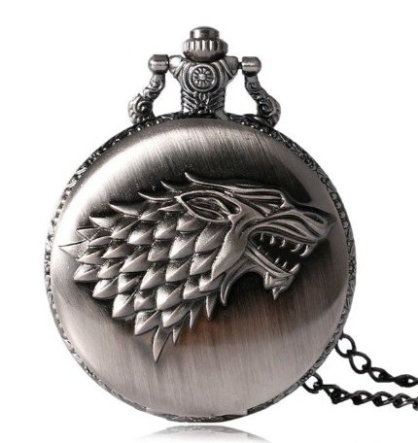 Game of Thrones Stark Family Pocket Watch Antique Silver