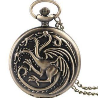 Game of Thrones House Targaryen Pocket Watch
