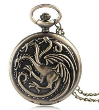Game of Thrones House Targaryen Pocket Watch