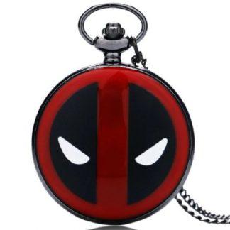 Deadpool Black Pocket Watch