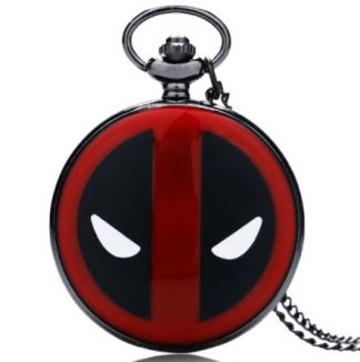 Deadpool Black Pocket Watch