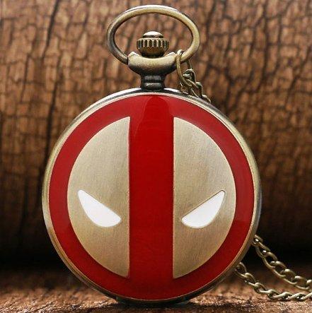 Deadpool Gold Pocket Watch