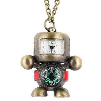 Robot Pendant Compass Watch