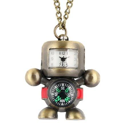 Robot Pendant Compass Watch