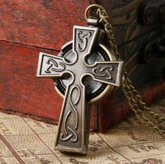 Celtic Cross Pendant Watch