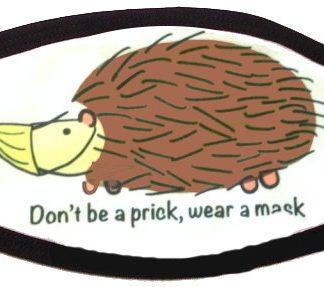 Prickly Hedgehog Face Mask