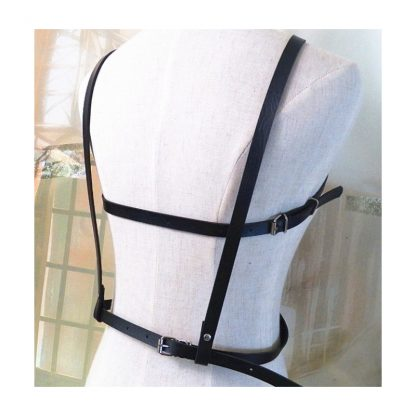 Pentagram PU Leather Chest Harness