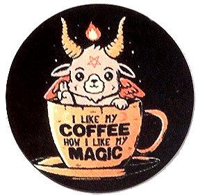 Fridge Magnet #6 - Baphomet I Like My Coffee...
