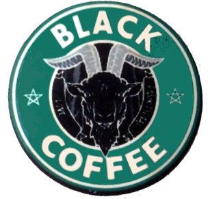 Fridge Magnet #51 - Baphomet Black Coffee (green)